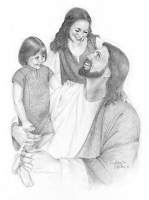 http://iloveujesus.com/pencil-drawing-of-jesus-children/