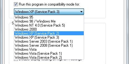Windows Compatability Mode