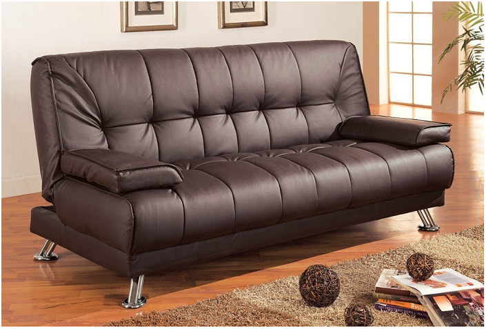 Save money on Coaster Futon Sofa Bed with Removable Arm Rests