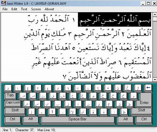 Jawi Writer Copy and Paste