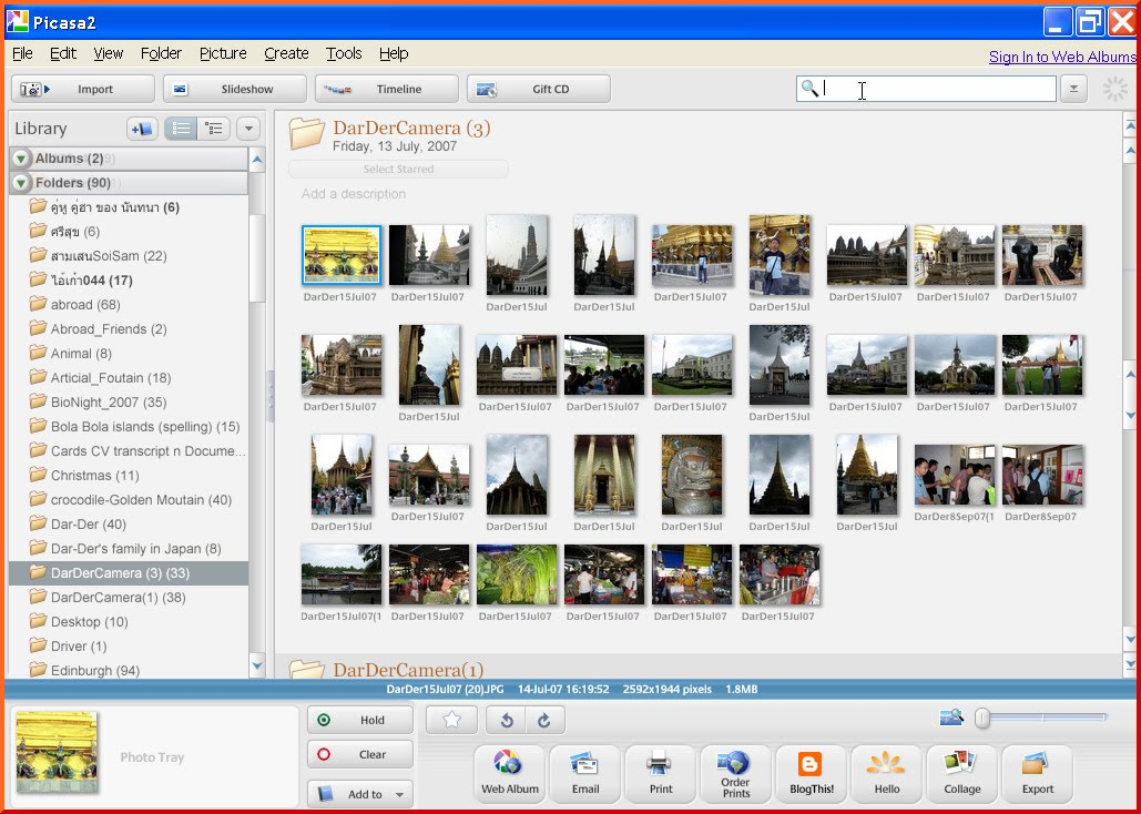 how to create picasa web album in gmail