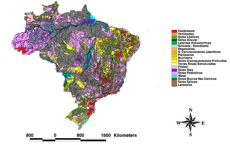 Soil maps brazil soils these are two more recent maps that show a little more detail and better show the diversity of soils gumiabroncs Image collections