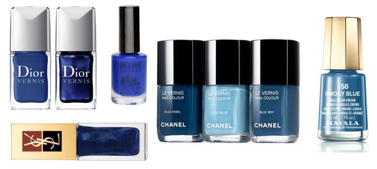 Collection vernis à ongle bleue