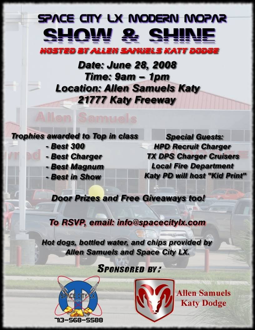 houston tx allen samuels katy sclx car show june 28th. Black Bedroom Furniture Sets. Home Design Ideas