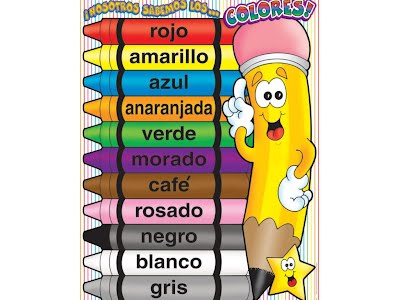List Of Colors In Spanish Spanish To English