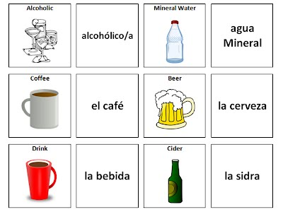 List of drinks in Spanish
