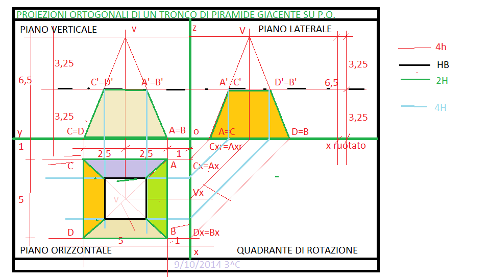 2 3 tronco di piramide b4 appunti spasiano for Creatore di piano di base