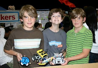 Miles, Connor, & Blake with their robots