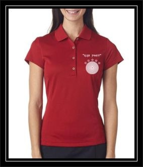 """USA POET"" Adidas Ladies' ClimaLite® Textured Solid Polo"