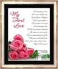 My First Love Framed Poetry Art Collectible