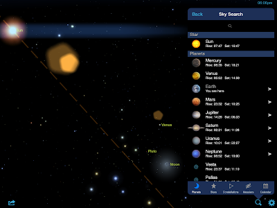 Planets - Star Chart User Guide