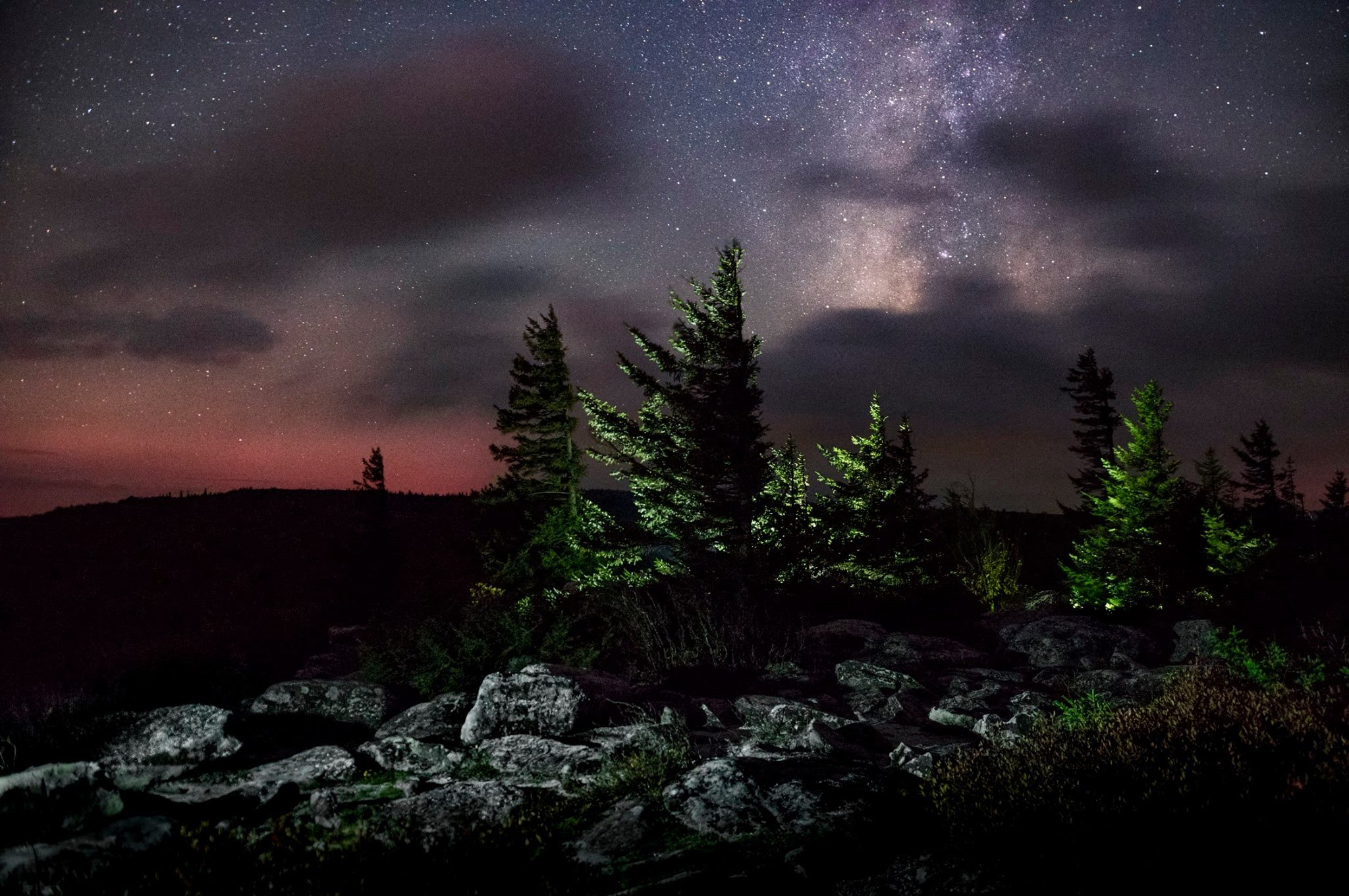 Dolly Sods Night time image