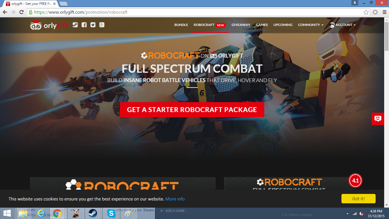 Robocraft Starter Pack - Steam Codes