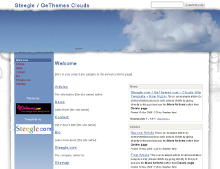 Google sites google sites experts designs development intranets google sites site templates gethemes steegle mash up google has released site templates which means when you make a new site you can pick a pronofoot35fo Gallery