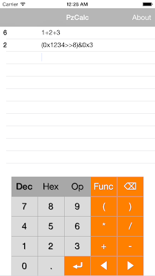 Screenshot of PzCalc
