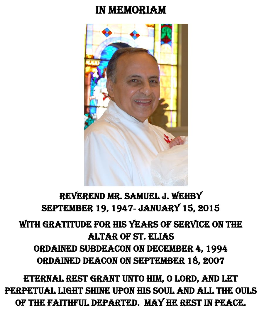 In Memoriam Reverend Mr. Samuel J. Wehby