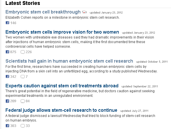 newspaper articles stem cell research 2011 Europe's hub for stem cell research, regenerative medicine and ethics features stem cell facts, educational resources, award-winning films, news and faq's.