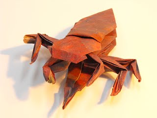 Origami Scorpion by Robert J. Lang (Part 4 of 7) - YouTube | 240x320