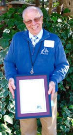 Steve Maher with the California State PTA's highest honor, the Golden Oak Service Award, presented by the Pleasanton PTA Council in February 2016