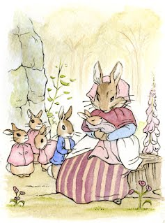 Beatrix Potter Welcome New Baby Counted Cross Stitch Pattern