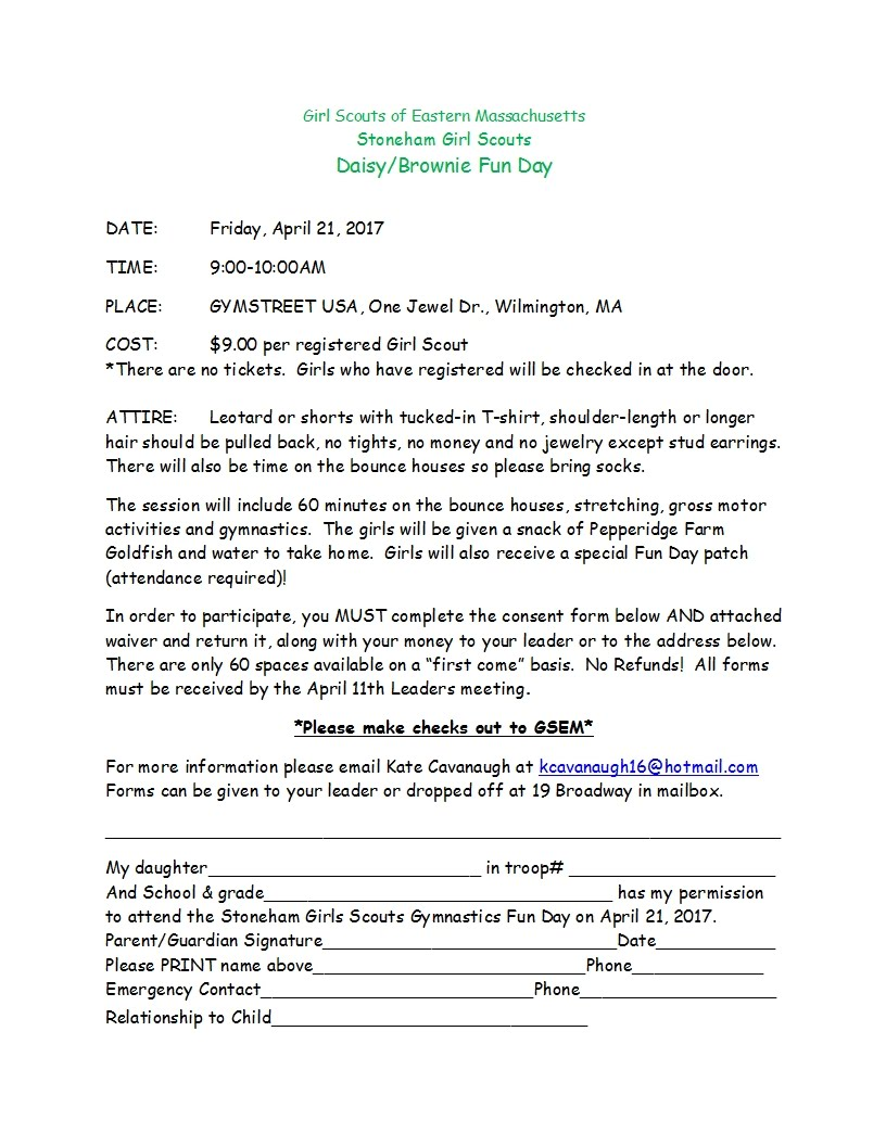 Announcements - Stoneham Girl Scouts