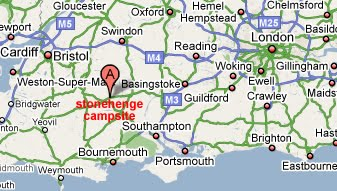 Stonehenge Uk Map.Directions To Sp3 4tq Stonehenge Campsite