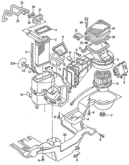 Heater Core Diagram