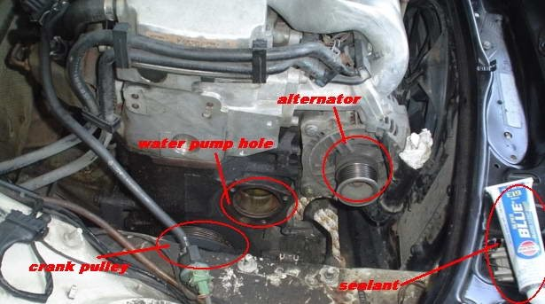 2002 Vw Jetta Water Pump Location