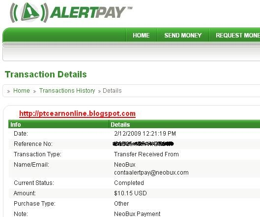 neobux payment proof alertpay