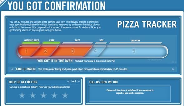 dominos sizzle with pizza tracker essay