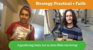 Goodie bags help but so does Bible mentoring!