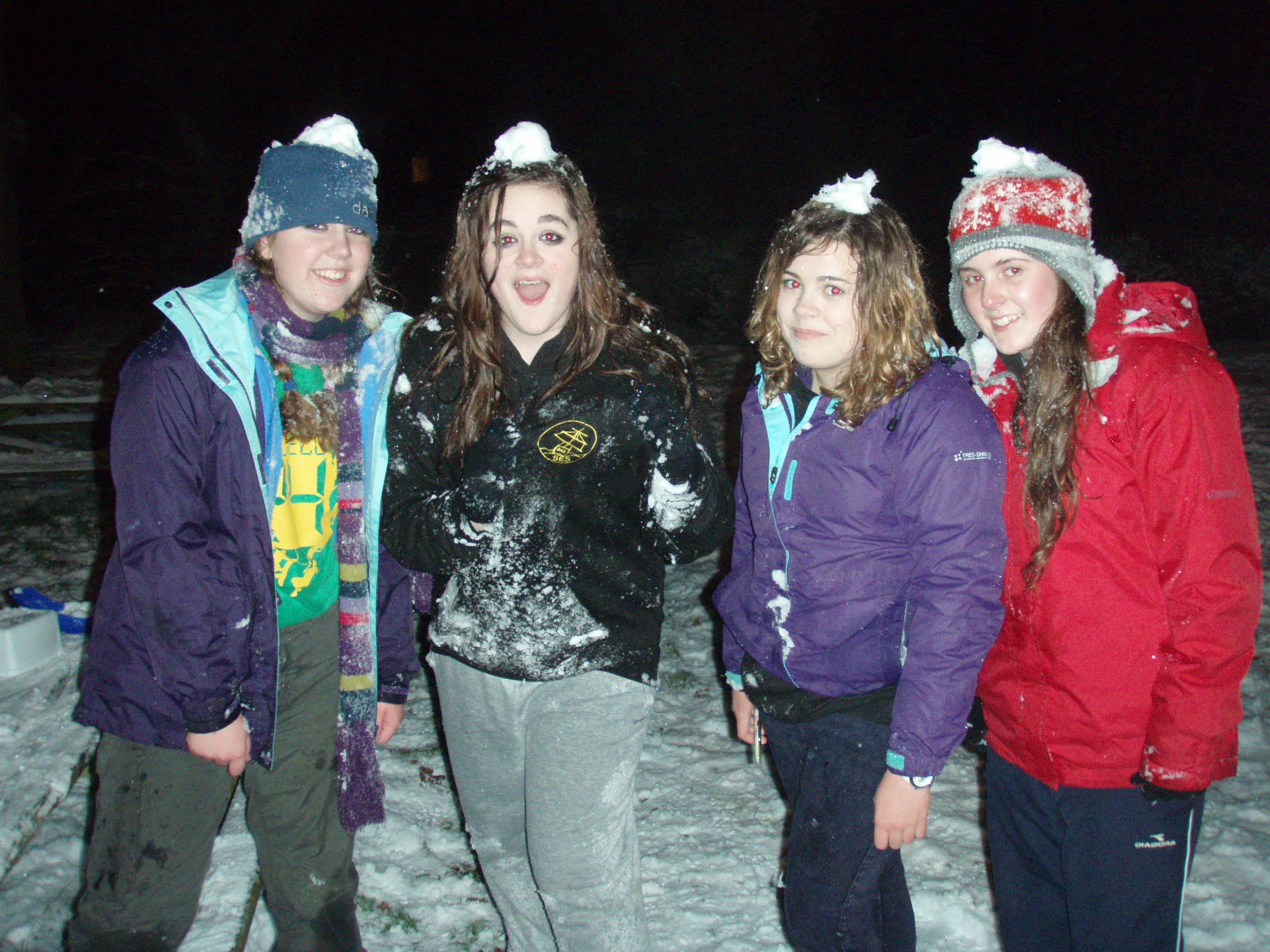 Shackleton Explorers in the snow - just not quite Antarctica!