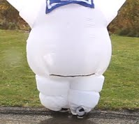 back side of the stay puft costume