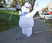 rear view of the diy stay puft costume
