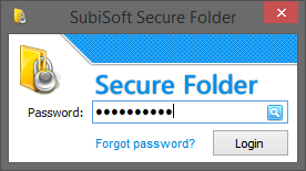 البرنامج SubiSoft Secure Folder 8.0.3 2014,2015 Login.PNG