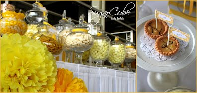 Sydney Yellow Candy Buffet Lolly Bar
