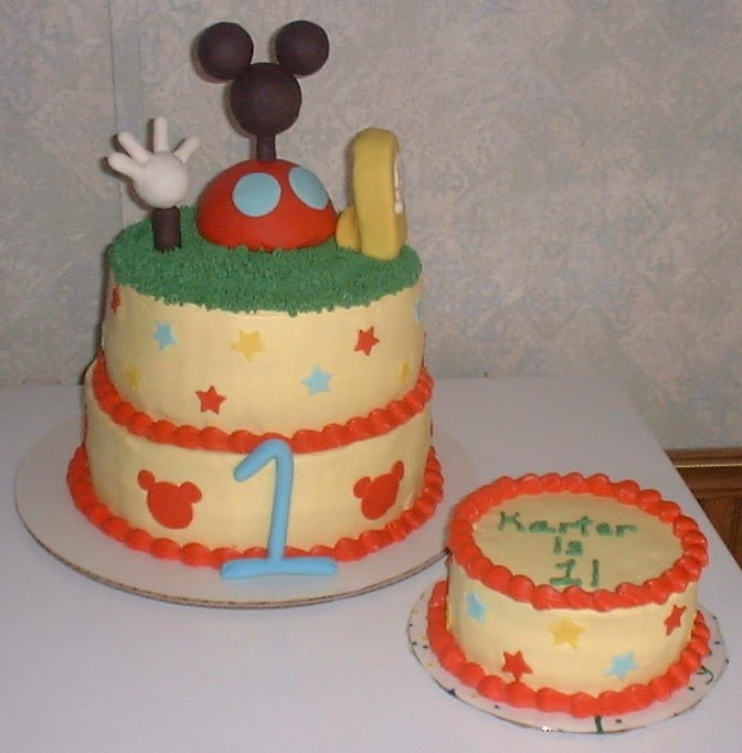 Mickey Mouse Smash Cakes Buttercream: Sunshinespecialtycakes