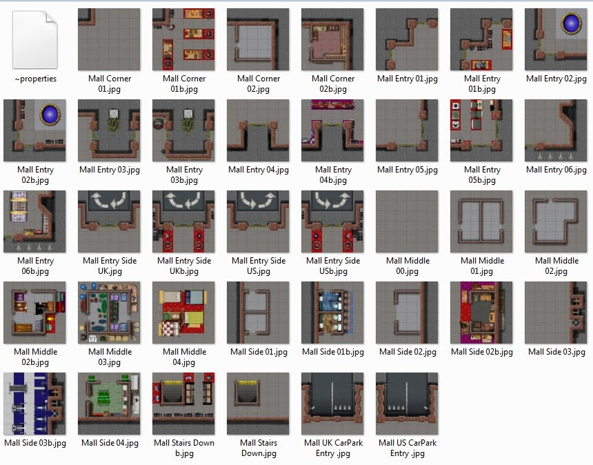 Mall Tiles, to be completed. Joins with Street Tiles.