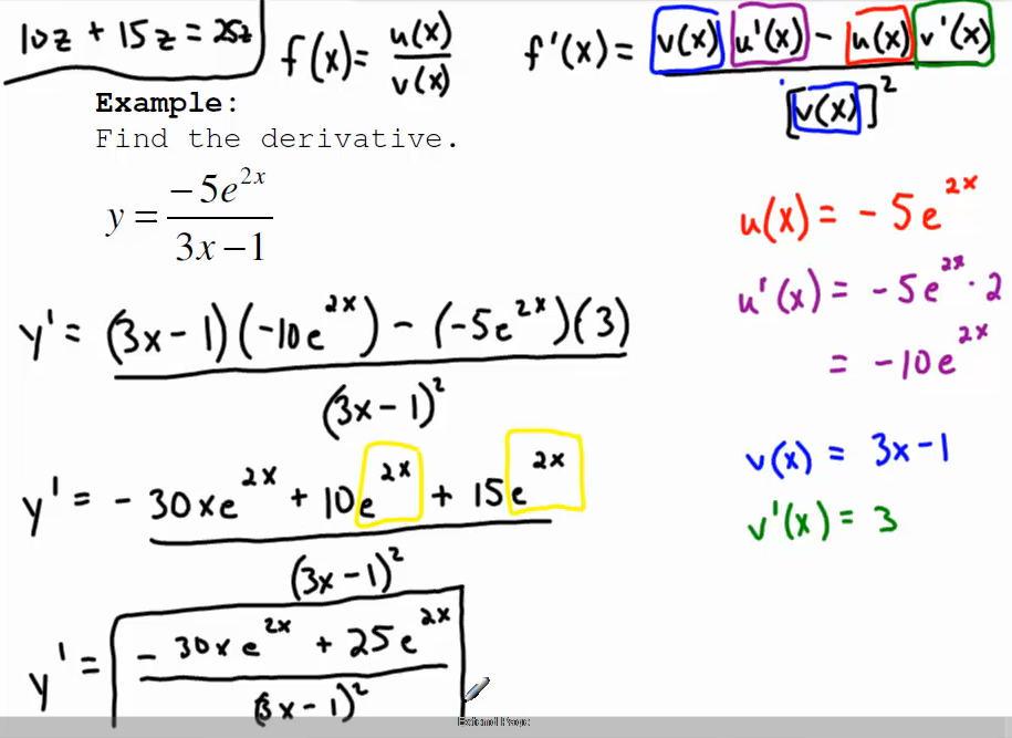 Derivatives of Exponential Functions - Survey of Calculus