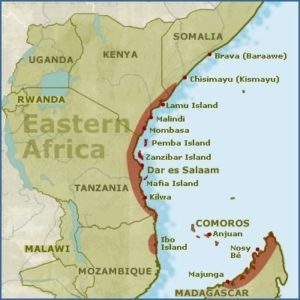 geography map of africa Geography   Swahili Coast Civilization