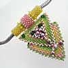 ch0189 3D Pendant in light retro colors