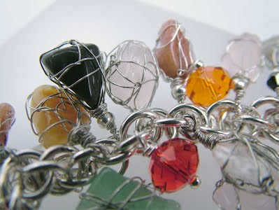 wire wrapped small gemstones