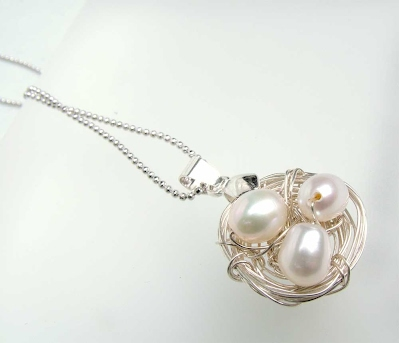 Birds Nest Eggs pendant