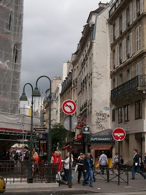 View of Rue de la Harpe from across St. Germain