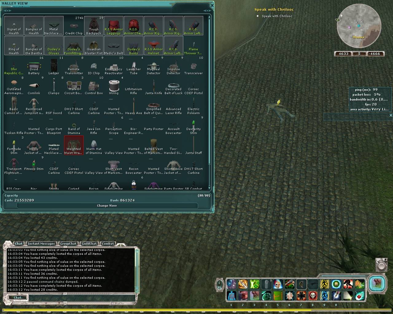 Star Wars Gaming: SWG guides Auto it to farm junk loot