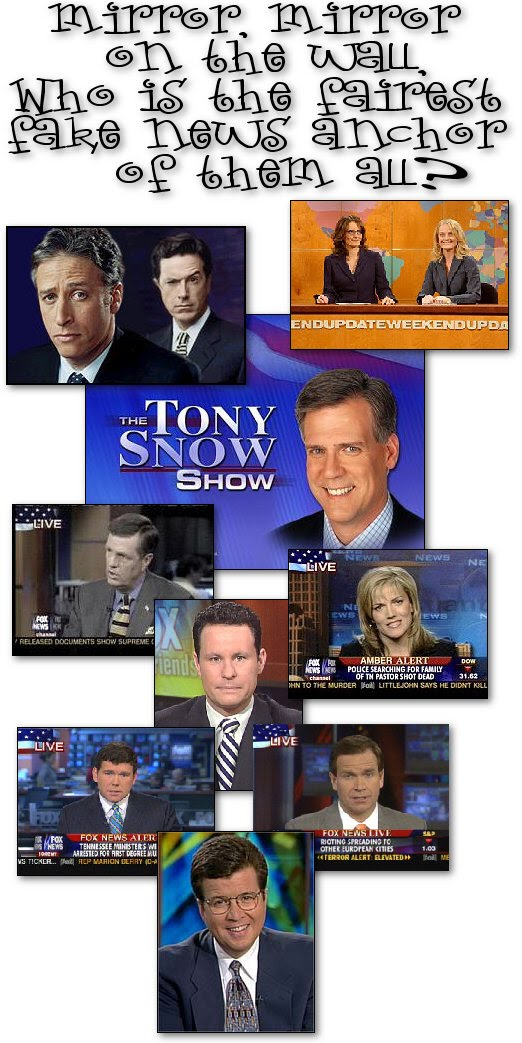Fox News plans right-wing Daily Show. 'Fox News Channel, a primary source of material for Jon Stewart and Stephen Colbert, is teaming with the exec producer of '24' to try its hand at a news satire show for conservatives to love.' 'The way I look at it, almost every comedy show or satire show I see uses the same talking points against George W. Bush and Dick Cheney,' '24' co-creator Joel Surnow said. 'The other side hasn't been skewered in a fair and balanced way.'