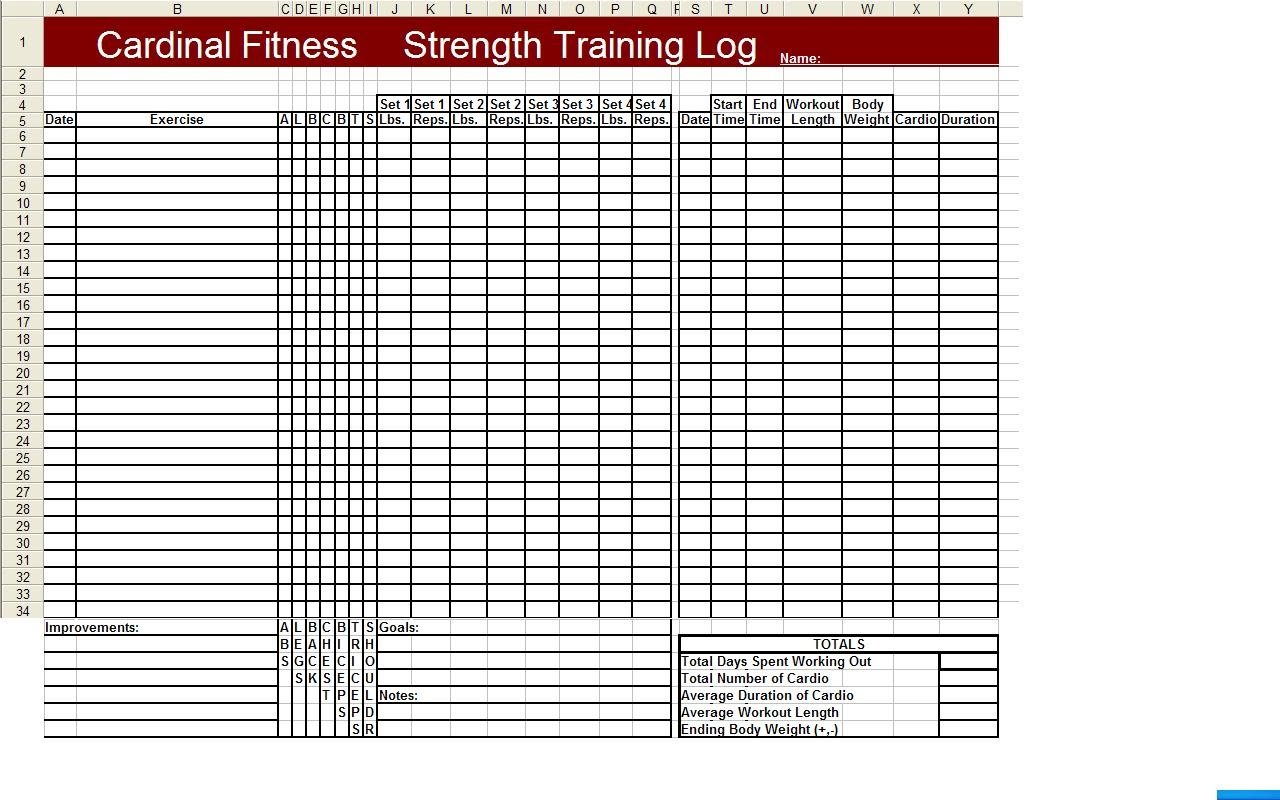 Printable Workout Logs | Search Results | Calendar 2015
