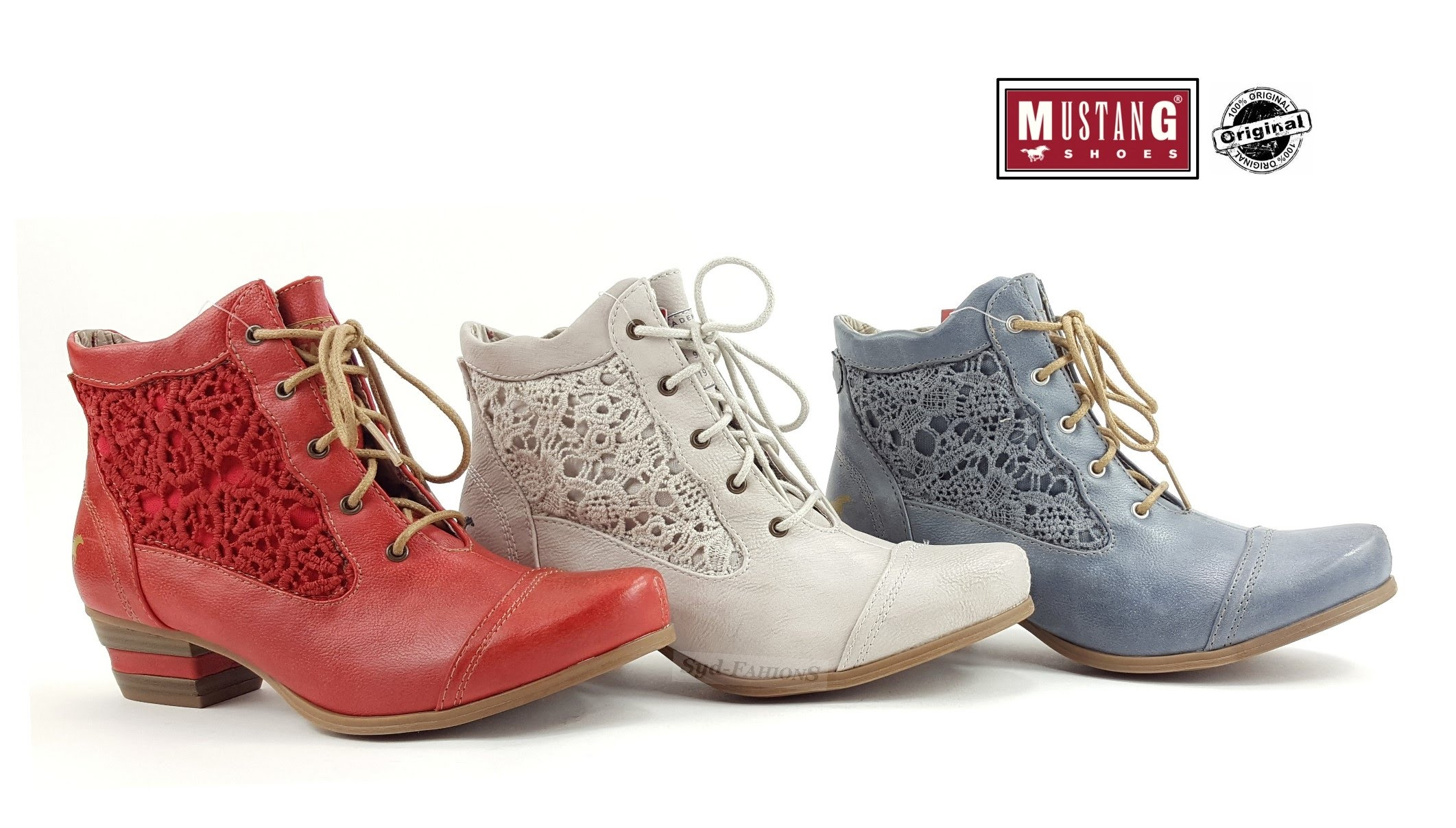 ae06c909ebdbca New Mustang Women s Boots Shoes Summer Lace-up Boots Ankle Boots ...