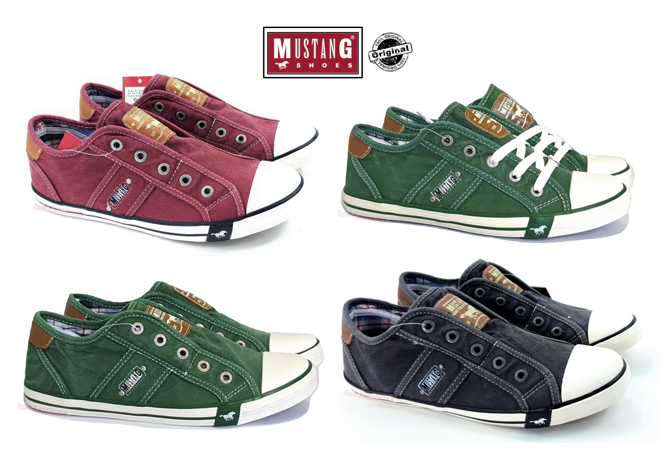new MUSTANG Ladies/' shoes Trainers Low Shoes Canvas Lace up Casual Shoes