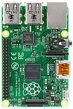 "Image Credit:"" Raspberry Pi B+ top"" by Lucasbosch - Own work. Licensed under CC BY-SA 3.0 via Wikimedia Commons"